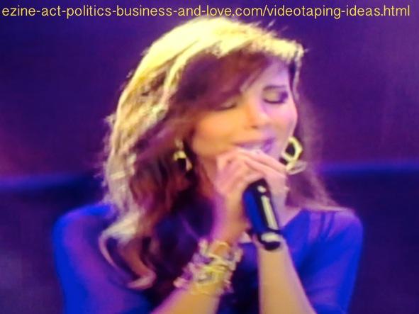 Videotaping Ideas: Beautiful Arabian singer, Nancy Ajram singing.