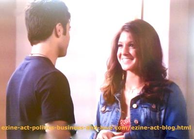 Loren Tate (Brittany Underwood) and her Love Eddie Duran (Cody Longo) When Her Video Hit the Roof in Hollywood Heights.