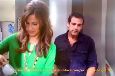 Love in Hollywood Heights - Max Duran (Carlos Ponce) and Nora Tate (Jama Williamson) While Getting Close to Each Other.