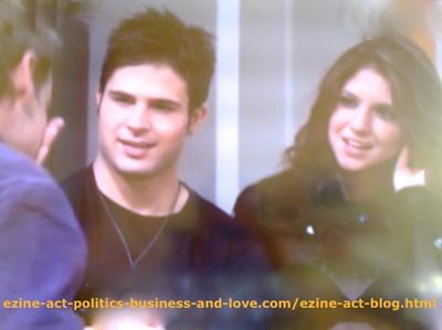 Eddie Duran (Cody Longo), Max Duran (Carlos Ponce) and Loren Tate (Brittany Underwood) in a Moment of lOVE and Passion for Music in Hollywood Heights.